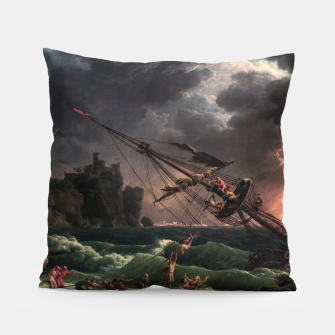 The Shipwreck by Laude Joseph Vernet Pillow thumbnail image