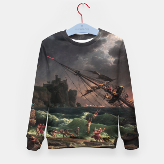 The Shipwreck by Laude Joseph Vernet Kid's sweater thumbnail image