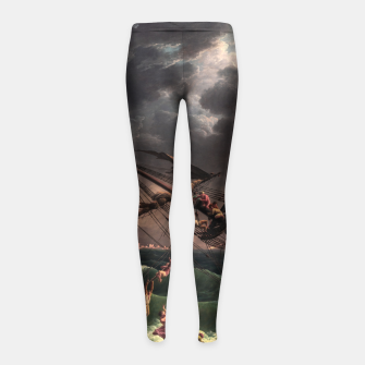 Miniaturka The Shipwreck by Laude Joseph Vernet Girl's leggings, Live Heroes