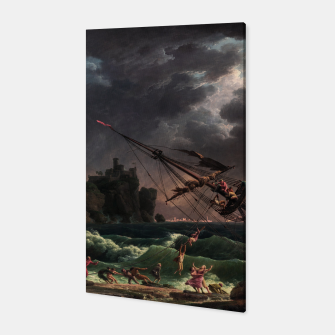 The Shipwreck by Laude Joseph Vernet Canvas thumbnail image