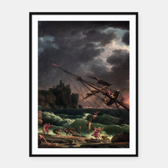 The Shipwreck by Laude Joseph Vernet Framed poster thumbnail image