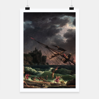 Thumbnail image of The Shipwreck by Laude Joseph Vernet Poster, Live Heroes