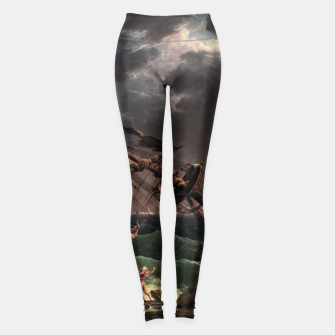 The Shipwreck by Laude Joseph Vernet Leggings thumbnail image