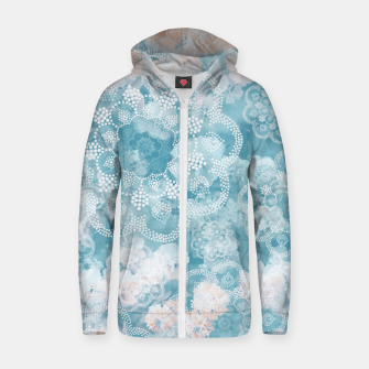 Thumbnail image of Floral pastel Zip up hoodie, Live Heroes