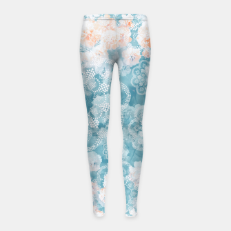 Thumbnail image of Floral pastel Girl's leggings, Live Heroes