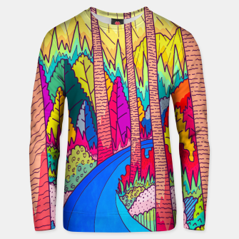 Miniatur Forest river  Unisex sweater, Live Heroes