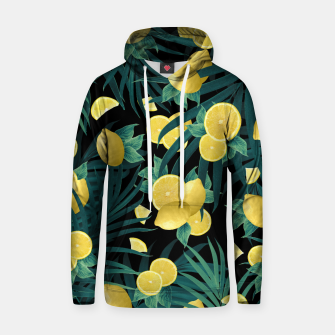 Summer Lemon Twist Jungle Night #1 #tropical #decor #art  Kapuzenpullover thumbnail image