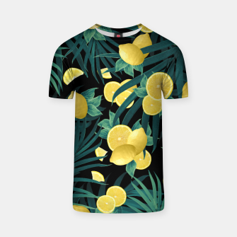 Summer Lemon Twist Jungle Night #1 #tropical #decor #art  T-Shirt thumbnail image
