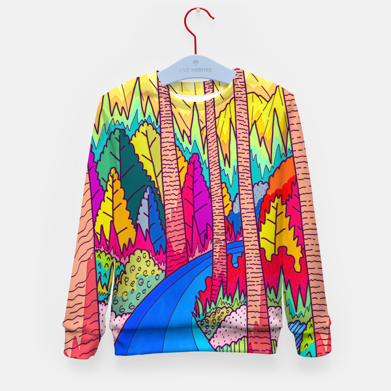 Image of Forest river  Kid's sweater - Live Heroes