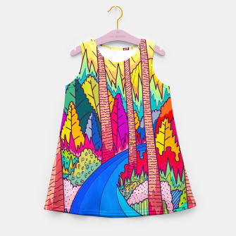 Thumbnail image of Forest river  Girl's summer dress, Live Heroes