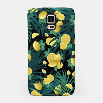 Summer Lemon Twist Jungle Night #1 #tropical #decor #art  Handyhülle für Samsung thumbnail image