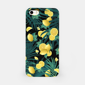 Summer Lemon Twist Jungle Night #1 #tropical #decor #art  iPhone-Hülle thumbnail image