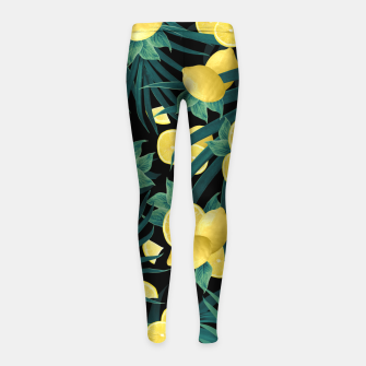 Summer Lemon Twist Jungle Night #1 #tropical #decor #art  Kinder-Leggins thumbnail image