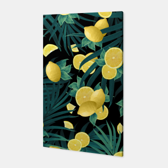 Summer Lemon Twist Jungle Night #1 #tropical #decor #art  Canvas thumbnail image