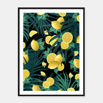 Summer Lemon Twist Jungle Night #1 #tropical #decor #art  Plakat mit rahmen thumbnail image
