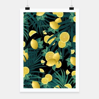 Summer Lemon Twist Jungle Night #1 #tropical #decor #art  Plakat thumbnail image