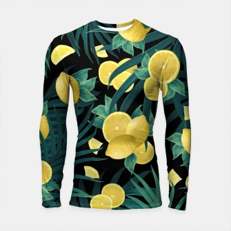 Summer Lemon Twist Jungle Night #1 #tropical #decor #art  Longsleeve rashguard thumbnail image