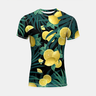 Miniaturka Summer Lemon Twist Jungle Night #1 #tropical #decor #art  Shortsleeve rashguard, Live Heroes