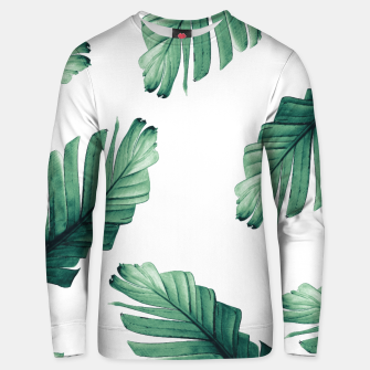 Tropical Banana Leaves Dream #5 #foliage #decor #art Unisex sweatshirt obraz miniatury