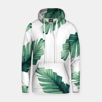 Tropical Banana Leaves Dream #5 #foliage #decor #art Kapuzenpullover obraz miniatury