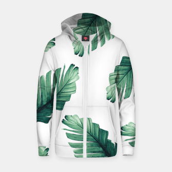 Thumbnail image of Tropical Banana Leaves Dream #5 #foliage #decor #art Reißverschluss kapuzenpullover, Live Heroes