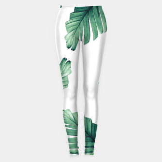 Miniaturka Tropical Banana Leaves Dream #5 #foliage #decor #art Leggings, Live Heroes