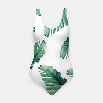 Miniaturka Tropical Banana Leaves Dream #5 #foliage #decor #art Badeanzug, Live Heroes