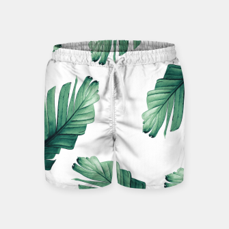 Tropical Banana Leaves Dream #5 #foliage #decor #art Badeshorts obraz miniatury