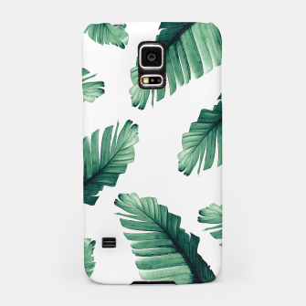 Miniatur Tropical Banana Leaves Dream #5 #foliage #decor #art Handyhülle für Samsung, Live Heroes