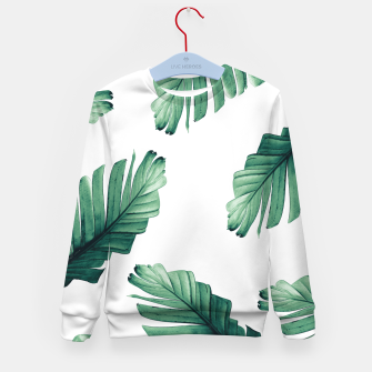 Thumbnail image of Tropical Banana Leaves Dream #5 #foliage #decor #art Kindersweatshirt, Live Heroes