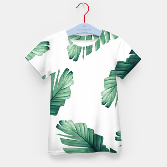Miniatur Tropical Banana Leaves Dream #5 #foliage #decor #art T-Shirt für kinder, Live Heroes