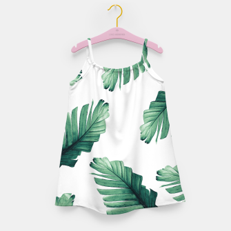 Miniaturka Tropical Banana Leaves Dream #5 #foliage #decor #art Mädchenkleid, Live Heroes