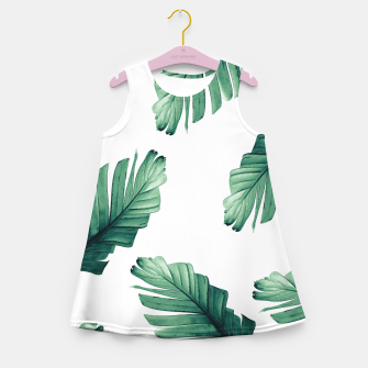 Miniaturka Tropical Banana Leaves Dream #5 #foliage #decor #art Mädchen-Sommerkleid, Live Heroes