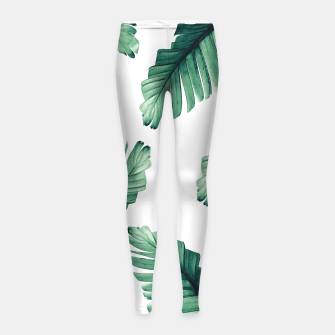 Tropical Banana Leaves Dream #5 #foliage #decor #art Kinder-Leggins obraz miniatury
