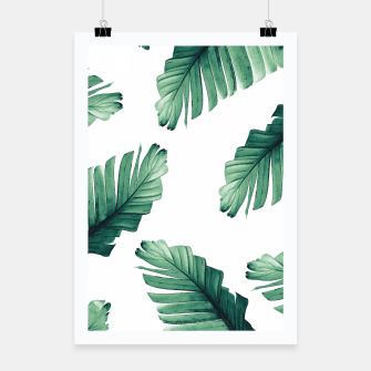 Miniaturka Tropical Banana Leaves Dream #5 #foliage #decor #art Plakat, Live Heroes