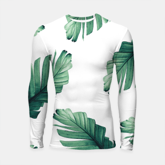 Tropical Banana Leaves Dream #5 #foliage #decor #art Longsleeve rashguard obraz miniatury