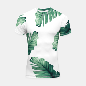 Tropical Banana Leaves Dream #5 #foliage #decor #art Shortsleeve rashguard obraz miniatury