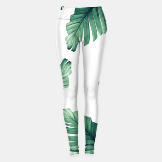 Thumbnail image of Tropical Banana Leaves Dream #5 #foliage #decor #art Leggings, Live Heroes