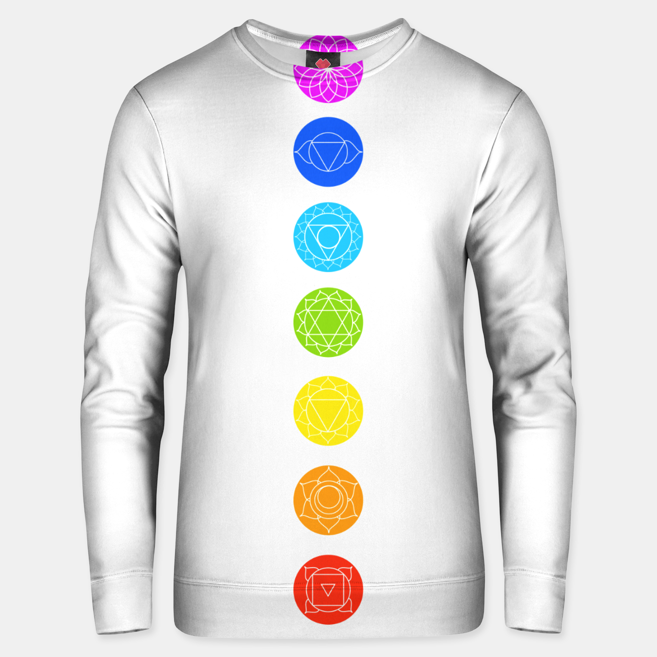 Image of Chakras of the human body Unisex sweater - Live Heroes