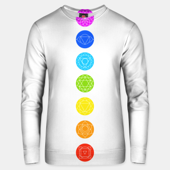 Thumbnail image of Chakras of the human body Unisex sweater, Live Heroes