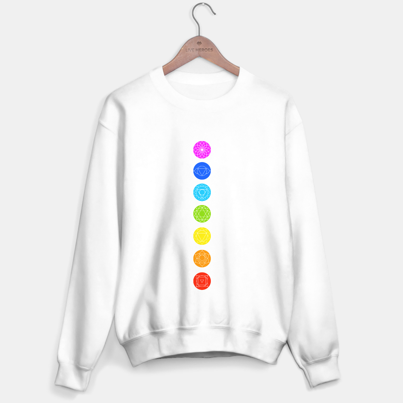 Image of Chakras of the human body Sweater regular - Live Heroes