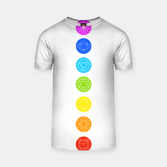 Thumbnail image of Chakras of the human body T-shirt, Live Heroes