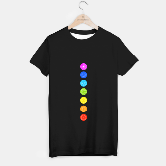 Thumbnail image of Chakras of the human body T-shirt regular, Live Heroes