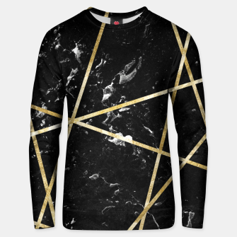 Thumbnail image of Black Marble Gold Geo Glam #1 #geo #decor #art  Unisex sweatshirt, Live Heroes