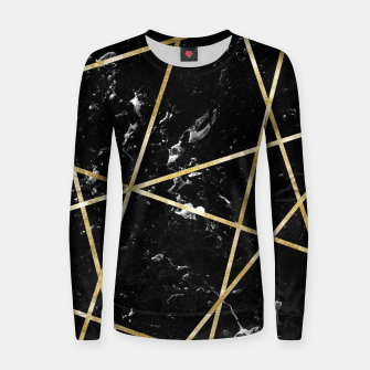 Thumbnail image of Black Marble Gold Geo Glam #1 #geo #decor #art  Frauen sweatshirt, Live Heroes