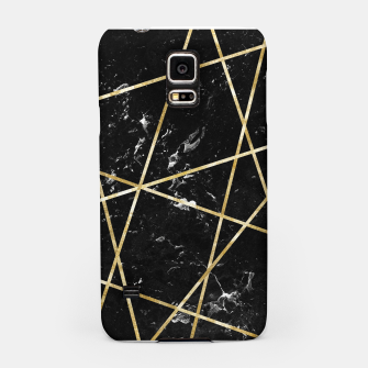 Thumbnail image of Black Marble Gold Geo Glam #1 #geo #decor #art  Handyhülle für Samsung, Live Heroes