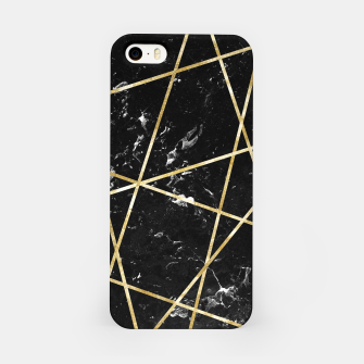 Miniaturka Black Marble Gold Geo Glam #1 #geo #decor #art  iPhone-Hülle, Live Heroes