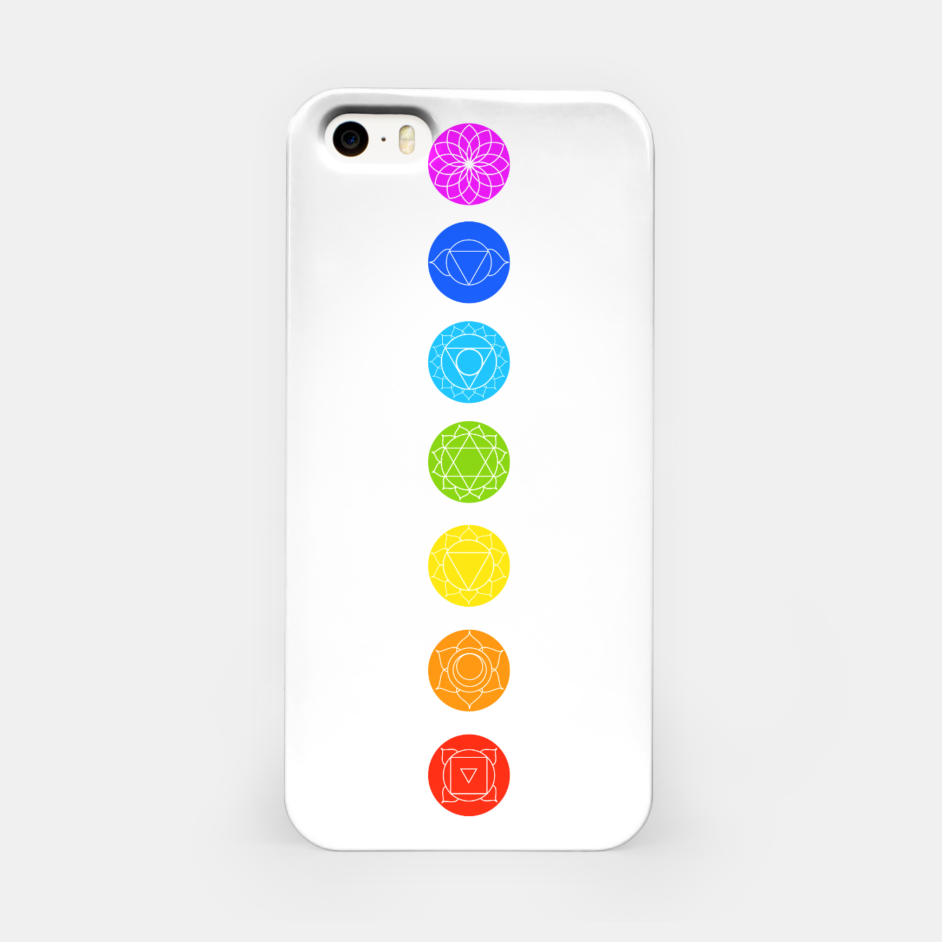 Image of Chakras of the human body iPhone Case - Live Heroes