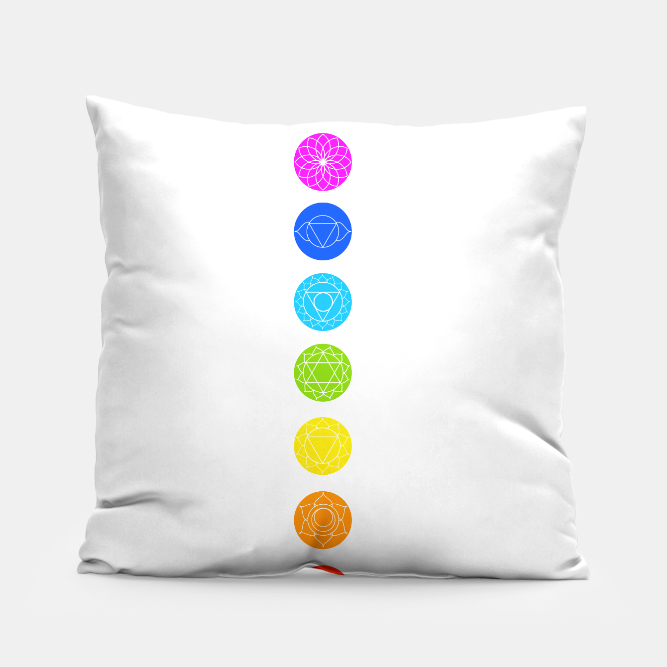 Image of Chakras of the human body Pillow - Live Heroes