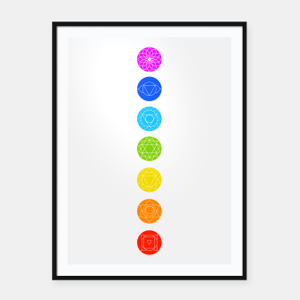 Thumbnail image of Chakras of the human body Framed poster, Live Heroes